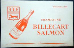 BUVARD  ANCIEN  CHAMPAGNE BILLECART SALMON  ALCOOL REIMS - Unclassified