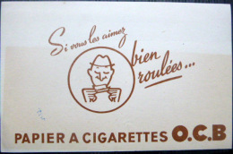 BUVARD  ANCIEN  TABAC EROTISME  PAPIERS A CIGARETTES O C B BIEN ROULEES - Tabac & Cigarettes