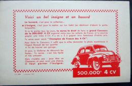 BUVARD  ANCIEN AUTOMOBILE 4 CHEVAUX  VOITURE 500 000° 4 CV - Automobile