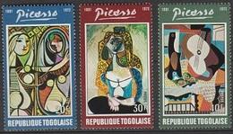 Togo 1974 N° 801-803 NMH Pablo Picasso  (D6) - Togo (1960-...)