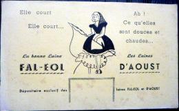 BUVARD  ANCIEN  LAINES  D'AOUST ET FAL EOL BERGERE MOUTON  VETEMENT HABILLEMENT TRICOTAGE - Textile & Clothing