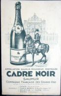 BUVARD  ANCIEN  VIN MOUSSEUX CADRE NOIR  ECOLE DE CAVALERIE CHAMPAGNE CHEVAUX EQUITATION - Food