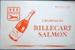 BUVARD  ANCIEN  CHAMPAGNE BILLECART SALMON REIMS VIN BOISSON - Food
