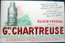 2 BUVARDS ANCIENS  BOISSON LA GRANDE CHARTREUSE  DES PERES CHARTREUX  38 VOIRON  DEUX EXEMPLAIRES - Food
