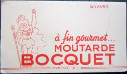 BUVARD ANCIEN MOUTARDE BOCQUET  GASTRONOMIE CUISINE 44 YVETOT - Moutardes