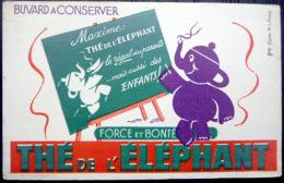 BUVARD ANCIEN  THE DE L'ELEPHANT  DUPUIS  ILLUSTRATEUR - Coffee & Tea