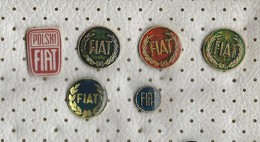 Lot 6 Pins FIAT,Cars - Fiat
