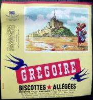 BUVARD  ANCIEN  BISCOTTES GREGOIRE LE MONT SAINT MICHEL - Biscottes