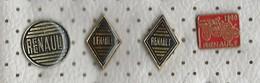 Lot 4 Pins RENAULT,Cars - Renault