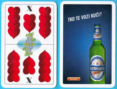KARLOVACKO RALLY BEER - Single Card ( Croatian Famous Beer Brand ) * Belot Swap Playing Cards * Bière Bier Cerveza Birra - Playing Cards (classic)