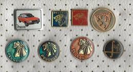 LOT 8 Pins PEUGEOT,Cars.Lion - Peugeot
