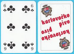 KARLOVACKO BEER - Single Card ( Croatian Famous Beer Brand ) * Poker Swap Playing Cards * Bière Bier Cerveza Birra - Playing Cards (classic)