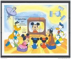 Nap949 WALT DISNEY COMMUNICATIE SATELLIET TELEVISIE HOND WORLD COMMUNICATION SATELLITE TELEVISION DOG BHUTAN 1984 ONG/MH - Disney
