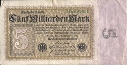 ALLEMAGNE 5 MILLIARDEN MARK 1923 VG+ P 115 - [ 3] 1918-1933 : République De Weimar