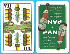 PAN BEER - Single Card ( Croatian Famous Beer Brand ) * Belot Swap Playing Cards * Bière Bier Cerveza Birra - Playing Cards (classic)