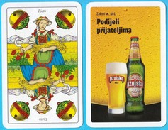 OZUJSKO BEER - Single Card ( Croatian Famous Beer Brand ) * Belot Swap Playing Cards * Bière Bier Cerveza Birra - Playing Cards (classic)