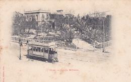 ALGERIE. ORAN. CPA RARE. TRAMWAY DEVANT LE CERCLE MILITAIRE . ANNÉE AVANT 1905 - Oran