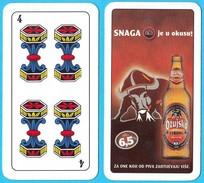 OZUJSKO BEER Single Card ( Croatian Famous Beer Brand ) Italian Swap Playing Cards Triestine * Bière Bier Cerveza Birra - Playing Cards (classic)