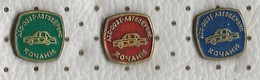 Auto Service - Kocani. Macedonia.Lot 3 Pins - Badges