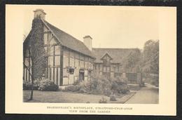 Shakespeares Birthplace & Garden Stratford Upon Avon ENGLAND Unused C1920s STK#94048