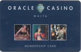 Oracle Casino Malta Membership Card - Casino Cards