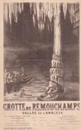 Grotte De Remouchamps, Vallée De L'amblève, Carte Publicitaire (31986) - Aywaille