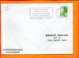 B. Du Rhône, Istres, Flamme à Texte, Bicentenaire Son Et Lumière 6-10 Juin 1989 - Postmark Collection (Covers)