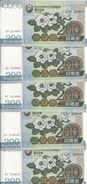 COREE DU NORD 200 WON 2005 UNC P 48 ( 5 Billets ) - Korea, North