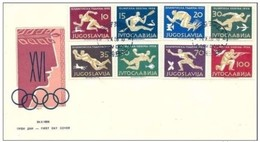 JUGOSLAVIA  - 24 10 1956 FDC OLIMPIADI MELBOURNE (COMPLET SET)