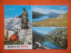 ET/105  ITALIE SALUTI DA SUSA // Statue Lac Montagne Multivues 3 Vues - Zonder Classificatie