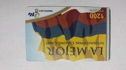 Israel-014 Bezeq International-LA MEJOR-international Calling Card-(1200units)-30.9.2009-used Card - Israel