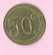Jeton :  Recto , Verso : 50c - Non Classés