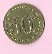 Jeton :  Recto , Verso : 50c - Jetons & Médailles