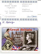 """(1733) Telefonkarte England Great Britain """"1840 Postage Stamps ONE PENNY""""  Unused - Timbres & Monnaies"""