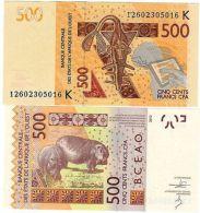SENEGAL AFRIQUE DE L' OUEST WEST AFRICAIN STATES Billet 500 FRANCS 2012 NEUF UNC - Banknotes