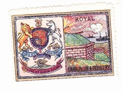 Vignette Militaire Delandre - Angleterre - Royal Garrison Artillery - Erinnofilia