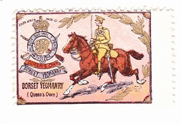 Vignette Militaire Delandre - Angleterre - Dorset Yeomanry - Erinnofilia