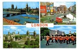 S2020 Postcard, Small Size - ENGLAND, LONDON, Piccadilly Circus, Guards Band Near Buckingham Palace _ NOT WRITED - Piccadilly Circus