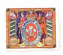 Vignette Militaire Delandre - Angleterre - Third Dragoon Guards - Erinnofilia