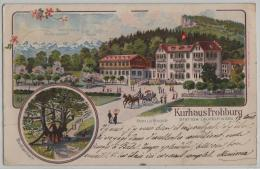 Kurhaus Frohburg Station Läufelfingen - Familie Bader - Buchrain - Litho Georg Rentsch - Animee Belebt - SO Soleure
