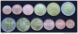 Azerbaijan 2006 (ND) UNC / BU ( 1,3,5,10,20,50 Qapik Coin Set - 6pc )
