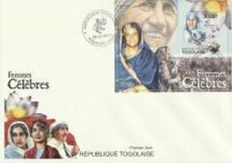 Togo 2011, Women, Indira Gandhi, Mother Teresa, BF In FDC