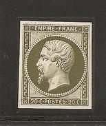 N°14, 20 Cts Bronze, Reproduction Sur Papier Carton - Marcophilie (Timbres Détachés)