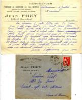 77 REBAIS Fabrique De VANNERIE Jean FREY Aux Ormes Lot 2 Piéces Thème BOIS OSIER - France