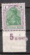 Reich N° 128 Neuf ** Charnière Sur La Bande - Allemagne