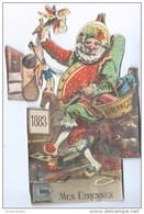 Découpage/Un Polichinelle De Noël/Avec Beaucoup De Jouets /Mes étrennes /1883   DEC37 - Motiv 'Weihnachten'