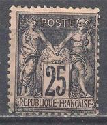 France YT N°97 Sage Type II Oblitéré ° - 1876-1898 Sage (Type II)