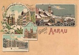 "Entier Postal De 2013 Sur Carte Postale Illustrée  ""Aarau"" - Stamped Stationery"
