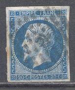 France YT N°14A Napoléon III Type I Oblitéré ° - 1853-1860 Napoléon III