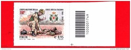 Nuovo - MNH - ITALIA - 2016 - 150 Anni Della Nascita Del Corpo Militare Croce Rossa - Volontario - 0.95 - Barre 1749 - Code-barres